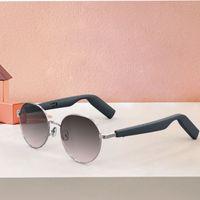 Grey Metal Frame Smart Occhiali WGP Audio Sunglasses Bluetooth Auricolari collegati