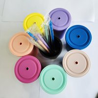 Mugs 8-Color Boutique Double-layer Sippy Cup The Seal Is Super Good Macaron With Straw Water Bottle Vasos De Plástico