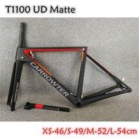 Black Red T1100 UD Matte CARROWTER V3Rs Disc Carbon Road Frames Disk Brakes Bicycle Frameset Bike with BB86 XS-46 S-49 M-52 L-54cm