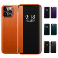 Smart View window PU Leather Flip Phone Case CASES for iphone 12 11 pro max xr xs max 7 8 Plus MOTO G Power S Stylus Play MOTO ONE 5G Ace XIAOMI 11 360 Full Protection Case