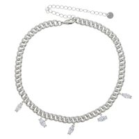 Iced Out Paved Eye Cz Charm Bling Cubic Zirconia Full Miami Cuban Link Chain Choker Necklaces For Women Hip Hop Jewelry Chains