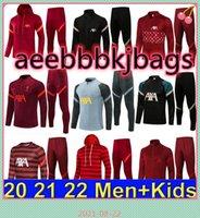 2021 2022 Hommes Soccer Tracksuit Survèlement de Football Former costume 21 22 Hommes Enfants Maillot Full Zipper Jacket Tracksuits Sportswear