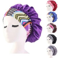 Shower Caps Women Satin Headscarf Sleeping Bonnet Hair Wrap Cap Hat Headband Headwear Wide Band Elastic Casual Beanies Solid Color
