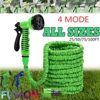 Garden Hose Magic Water Watering Flexible Expandable Reels For Connector Blue Green 25-175FT Dropship Equipments