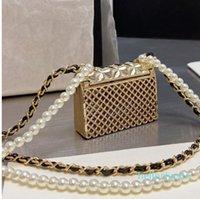 Designer- Women Shoulder Bags Mini Classic Flap Bags Pearl Chain Waist Necklace Chest Wristlet Lovely Lady Cross Bags