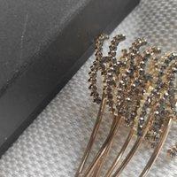 メタルヘアクリップCクラシックシンボルヘアピンラインストーン用紙カード付きアクセサリー