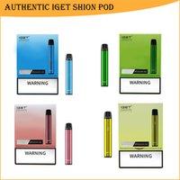 Authentic IGET Shion Pod E-Cigarette 25 Colors Disposable Vapes Device 600 Puffs 2.4ml Pods Prefilled Cartridge Pen 400mAh Battery