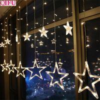 QIFU USB Curtain Light Merry Christmas Decor for Home 2019 Christmas Ornaments Tree Pendants Xmas Gifts New dsf0881