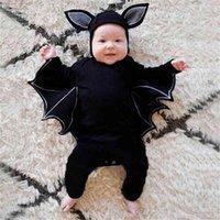 Infants Baby 3D Bat Halloween Romper with Animal Head Cap Jumpsuit Cartoon Clothes Newborn Kids Cotton Bats Overall Climbing Playsuit Performance Wear G98TWW4
