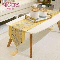 Avigers Lüks Modern Sarı Masa Koşucular Ev Dekoratif Düğün Parti El 210709 için