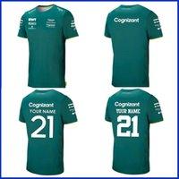 Aston Martin Cognizant F1 2021 T-shirt officiel de l'équipe Nouveauté Summer FIMARTIN SPORTS SPORTS COSTURE SUPPLUME D'HUMIDITÉ À manches courtes