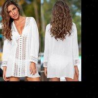Rendas Crochet Bikini Beachwear Capa Das Mulheres Vestidos Up Beach Summer Banhing Terno