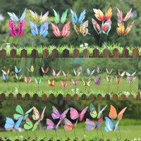 Simulação Butterfly Arranjo de Flor Garden Decoração de Jardim Borboletas Bonsai Vasos Vasos Mercado Venue Decorações Flores 7/9/12/13/20 / 22cm ZC197