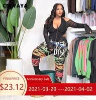 CM Yaya Streetwear Mujeres Cuerdas Cintura Alta Hip Hop Deportiva Deportes Jogger Pantalones de Chndal