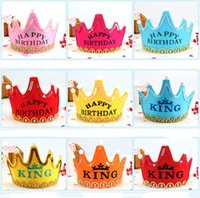 Children's birthday party decoration hats Christmas glowing crown cap baby one-year-old adornment supplies date of birth hat GWA7615