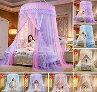 Suprimentos de cama líquido Suprimentos Têxteis Home Jardim Drop entrega 2021 Redondo Lace Alta Densidade Cama Cortina Cúpula Princesa Rainha Dossel Mosquito Nets B