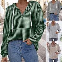 Women's Hoodies & Sweatshirts Harajuku Striped Printed Friends Ladies Women 90s Sweatshirt Long-Sleeved Anime Hoody Female Hooded Tops