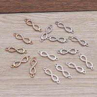 10 peças 23x10mm Infinito de cristal bedels para jóias Faça moda orrbel cabide conectores bracelete encadeamento charme acessórios