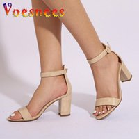 Sandals Women 2021 Ankle Buckle Strap Gladiator Sandal Fashion Brand Summer 7.5CM Emboss Lady Thick Heel Party Dress Shoes