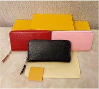 2021 أعلى جودة محافظ للنساء حقائب جلد طبيعي سستة طويلة محفظة مصمم حقائب zippy محفظة lumburys حقيبة حمل لها مربع