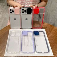 Sliding Window Lens Camera Protection Phone Cases for iPhone 13 Pro Max 12 Mini 11 XR 8 Plus Samsung S20 S21 Ultra Note 20