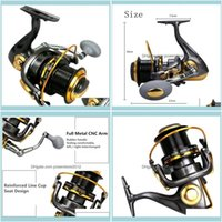 Sports & Outdoorsseries 12+1Bb Fishing Reel Trolling Long S Casting Big Sea Spinning Wheel Max Drag 20Kg   44Lb With Full Metal Baitcasting