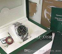 새로운 공장 판매 남성 2813 자동 운동 39mm 새로운 SS 망 녹색 사파이어 # 116400GV 원래 상자 다이빙 남자 시계 시계