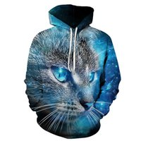 3D Print Funny Two Cats Pattern Unisex Sweatshirt Hip-hop Fashion Streetwear New Men Women Casual Hoodies