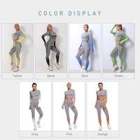 2/3/5 adet Dikişsiz Tayt Kadın Yoga Pantolon Fitness Spor Sutyen Bayan Bayan Kuşak Spor Seti Yoga Spor Spor Için Su Takım Elbise