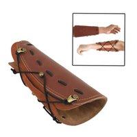Guardie del braccio di vacchetta da polso, Meihun Tradizionale ricurva la manopola composita, cuoio di alta qualità, guardie tradizionali di tiro con l'arco