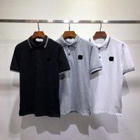 T-shirt pour hommes Stone Summer Island Mode Designer Tops Lettre de luxe Broderie Chemise Hommes Vêtements Courtes Sans manches courtes Tees 889