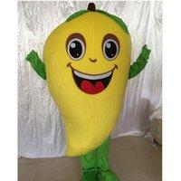Halloween Grün Mango Mango Maskottchen Kostüm Hohe Qualität Anpassen Cartoon Frucht Anime Thema Charakter Erwachsene Größe Karneval Weihnachten Fancy Party Kleid