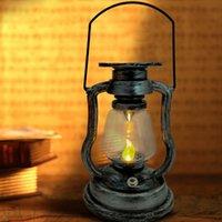 Pendant Lamps Garden Hanging Lantern Decoration LED Electronic Candle Light Vintage Wind Lamp Cafe Bar Home Decor