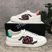 2021Men Frauen Sneaker Casual Schuhe Top Qualität Schlange Chaussures Leder Turnschuhe Ass Biene Stickerei Streifen Schuh Walking Sport Trainer Tiger