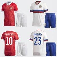 2020-21 Saison Russland Fussball Trikots Anzug Home und Away ARSHAVIN KOMBAROV SMOLOV Hochwertiges Sweatshirt (Wählen Sie Flocking) Top + Hosen