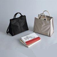 Briefcases Pasta executiva de nylon simples para mulheres, bolsa mão leve à prova d'água estudantes, ombro pendurado, HCHA
