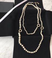 Popüler Moda Inci Kazak Zinciri Boncuklu Kolye Kadınlar için Parti Düğün Takı Gelin Için Kutusu HB521