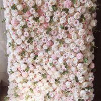 SPR 4FT * 8FT Blush Rose Flow Flowers Wall peut rouler Up Tableau de la table Coureur artificielle Décorations florales Arrangement SHPPPing gratuit1