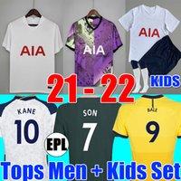 20 21 maillots de football TOTTENHAM hotspur 2020 2021 KANE SON BALE BERGWIJN LUCAS DELE kit de football chemise BALE NDOMBELE hommes ensembles enfants