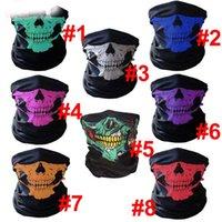 100pcs Skull Design Magic Mask Multi Function Bandana Warm Scarf Face Masks Ski Sport Motorcycle Biker Halloween Christmas Party Neck Facial