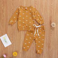Clothing Sets Baby & Children's 0-24M Born Toddler Girl Boys Clothes Set T-shirt Sweatshirt Tops + Kids Sun Print Long Pants Outfits