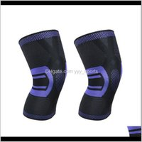 منصات الكوع 2 قطع الرياضة حامي محبوك تنفس الساق الحراس المضادة للانزلاق الركبة دعم دعم لحلق كرة السلة اللياقة (أسود ZPLCT
