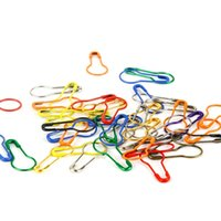 Colorful 100pcs lot Knitting Crochet Locking Stitch Marker Hangtag Safety Pins DIY Sewing tools Needle Clip Crafts Accessory DH8570