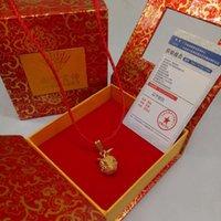 قلادة 24 كيلو صغير قلادة قلادة سبائك الذهب مطلي هدية النشاط