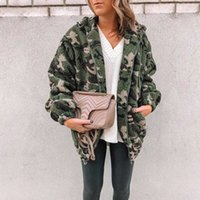 Fleece Jacket Fashion Plus Size Long Sleeve Jacket Zipper Fly Teenager Casual Coats Designer Camouflage Womens