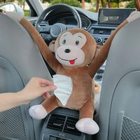 Симпатичные мультфильм Box Cars Tyscue Creative Monkey Velvet подлокотчик мешки для хранения сиденья