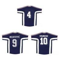 Top 1998 Yougoslavie Jerseys rétro Vintage Mijatovic Mihajlovic Soccer Jersey Stankovic Jugovic Shirt de football Stanjkovic Savicevic Maillot de pied