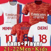 20 21 Olympique Lyonnais Lyon Fußballtrikots 2020 2021 Maillot de Lyon Fußballtrikot TRAORE MEMPHIS OL Lyon Männer Kinder trikots