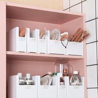 Storage Bottles & Jars Plastic Box Cabinet Tableware Desktop Cosmetic Kitchen Bathroom Drawer Division Organizer
