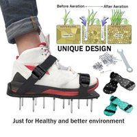 Garden Supplies Grass Spiked Gardening Walking Revitalizing Lawn Aerator Sandals Nails Shoes Tool Nail Cultivator Yard Gardens Loose Soil Tools